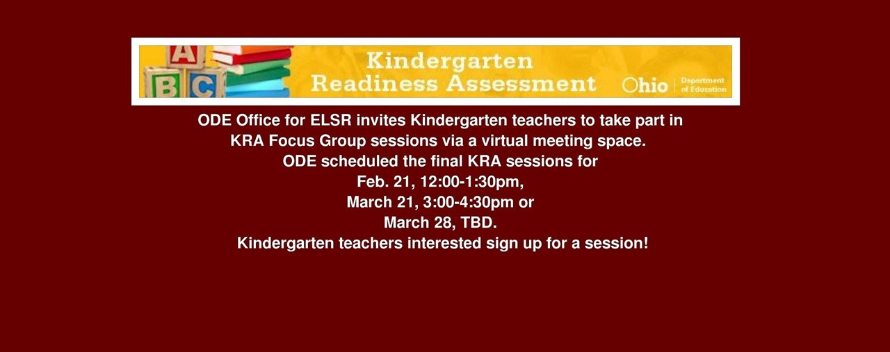 ODE sets dates for final KRA Group Sessions.