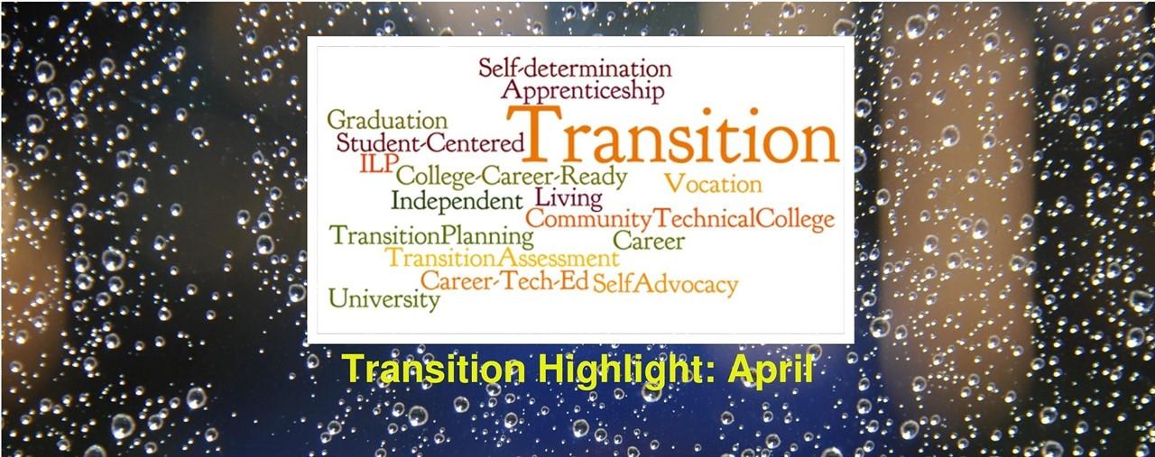 Transition Highlight for April