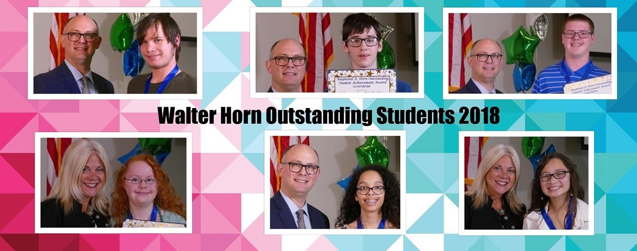 Walter Horn Outstanding Students 2018. Multiple pictures of students.