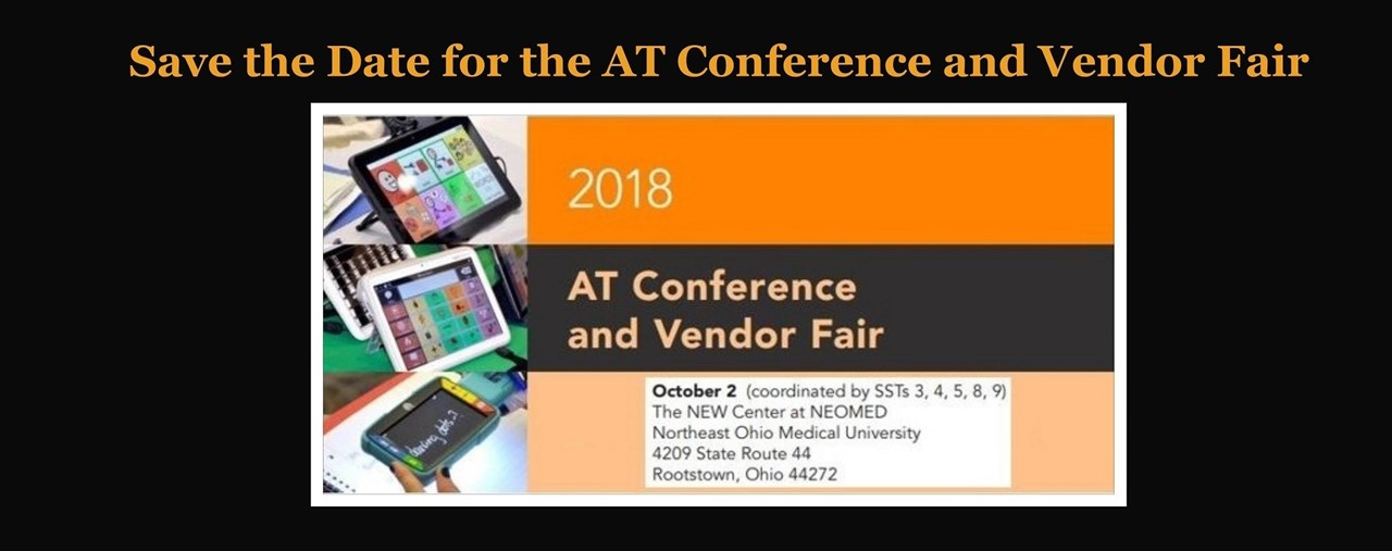 Save the date for AT Vendor Fair, October 2, 2018.