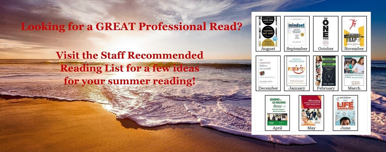 Beach, waves on the sand, sun beginning to set. Looking for a great summer read? Visit our staff recommended read for a few ideas for your summer reading.