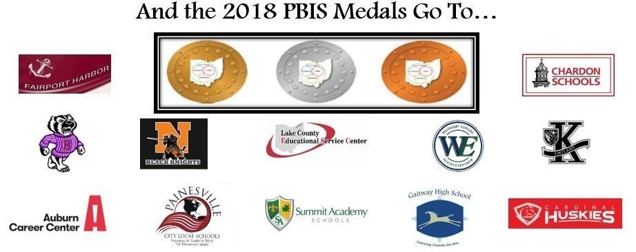 And the 2018 PBIS Medals go to... logos of award winning districts included.
