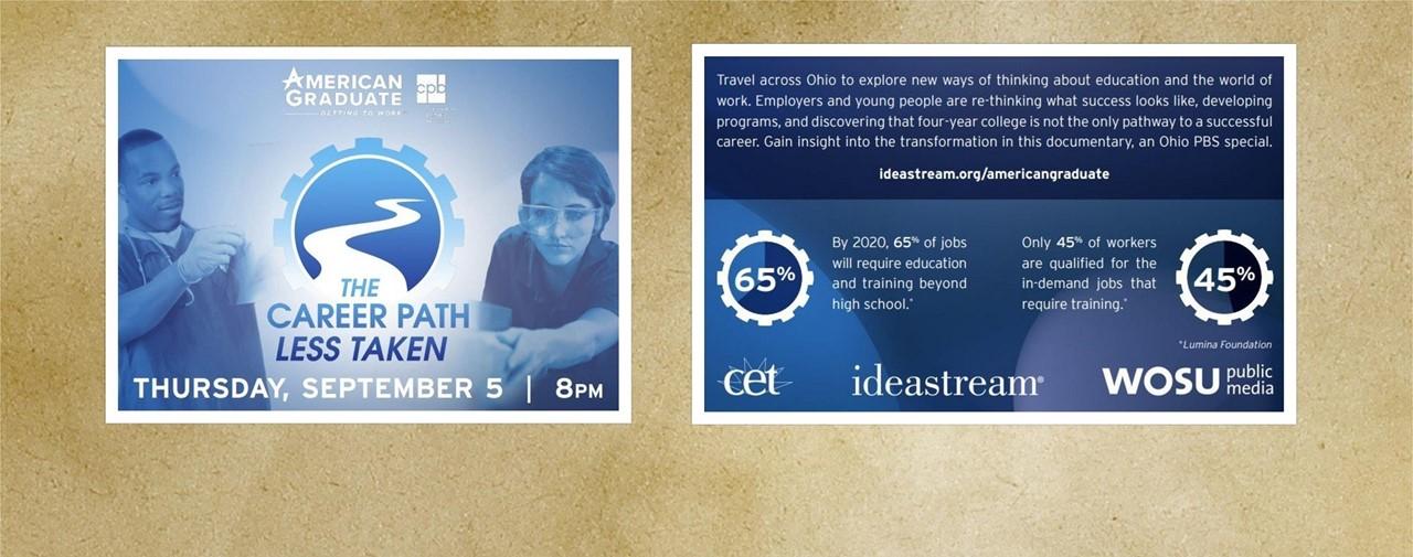 The Career Path Less Taken Thursday, September 5 at 8:00 PM. ideastream.org/americangraduate