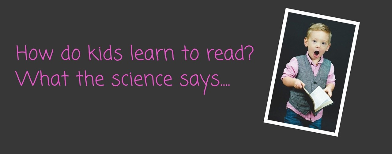 How do kids learn to read? What the science says... photo of preschool boy holding a book.