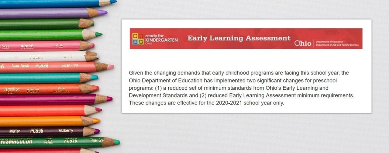 Early Learning School Readiness changes to assessment and ELDS announced for 2020-21. Click link for more info.