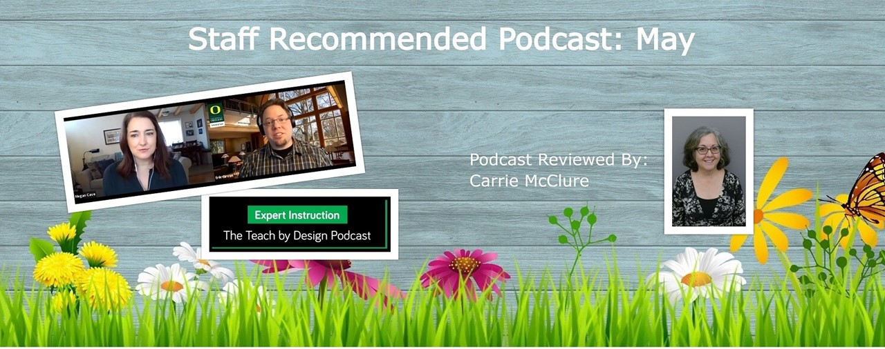 Staff Recommended Podcast: May. PBIS Teach by Design:  Implicit Bias by Dr. Erik Girvan University of Oregon School of Law. Podcast reviewed by Carrie McClure. Photo shows a wooden fence with green grass and spring flowers growing in front of of it.