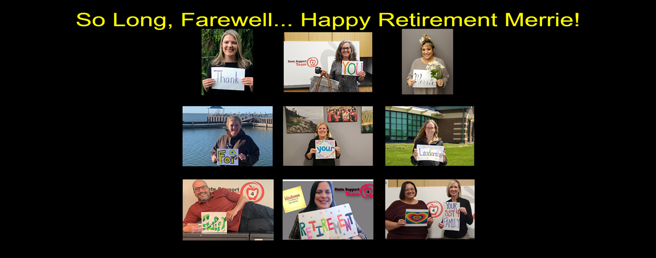 So Long, Farewell... Happy Retirement Merrie!